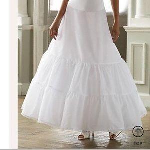 David's Bridal A-line 2 tier petticoat
